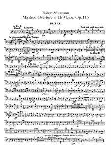 Манфред, Op.115: Увертюра  – партия литавр by Роберт Шуман