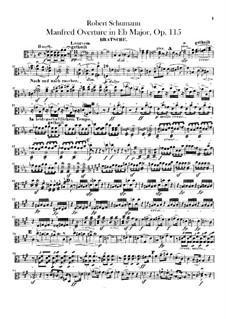 Манфред, Op.115: Увертюра – партия альта by Роберт Шуман