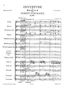 Манфред, Op.115: Увертюра by Роберт Шуман