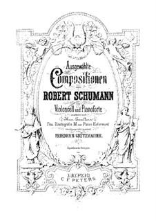 Манфред, Op.115: Nr.6 Die Alpenfee, für Cello und Klavier by Роберт Шуман