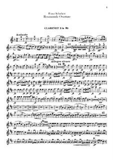 Увертюра: Партии кларнетов by Франц Шуберт