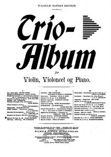 Октет для струнных и духовых инструментов фа мажор, D.803 Op.166: Часть III, для скрипки, виолончели и фортепиано by Франц Шуберт