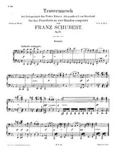Похоронный марш для фортепиано в четыре руки, D.859: Первая и вторая партии by Франц Шуберт