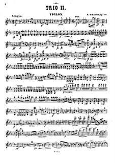 Фортепианное трио No.2 ми-бемоль мажор, D.929 Op.100: Партия скрипки by Франц Шуберт