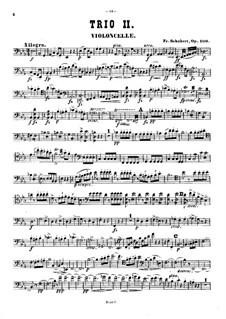 Фортепианное трио No.2 ми-бемоль мажор, D.929 Op.100: Партия виолончели by Франц Шуберт