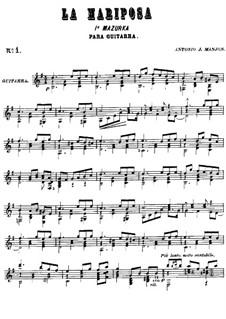 Mazurka 'La Mariposa', Op.1: Mazurka 'La Mariposa' by Антонио Хименос Маньон