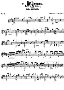 Mazurka, Op.3: Мазурка by Антонио Хименос Маньон