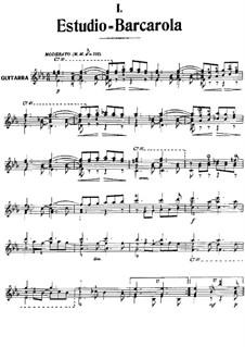 Estudio-Barcarola: Estudio-Barcarola by Антонио Хименос Маньон