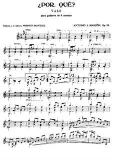 Waltz 'Why?', Op.28: Waltz 'Why?' by Антонио Хименос Маньон