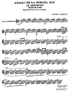 Часть I: Для гитары by Людвиг ван Бетховен