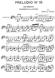 No.15 ре-бемоль мажор: Для гитары by Фредерик Шопен