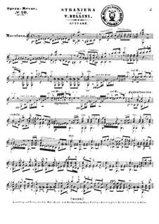La straniera (The Stranger Woman) : Selected Melodies by Винченцо Беллини