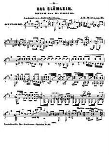 Das Blümlein, Op.34: Für Gitarre by Иоганн Каспар Мерц