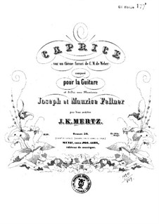 Caprice on Theme by Weber, Op.50: Для гитары by Иоганн Каспар Мерц