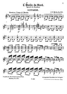 Транскрипция на тему из оперы 'L'étoile du nord' Мейербера, Op.100: Транскрипция на тему из оперы 'L'étoile du nord' Мейербера by Иоганн Каспар Мерц