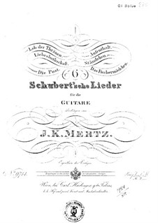 Six Schubert's Tracks: Six Pieces by Франц Шуберт