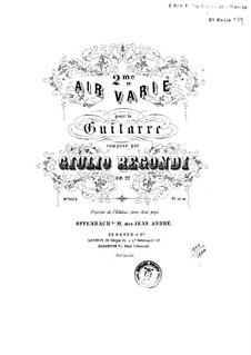 Ария с вариациями No.2, Op.22: Для гитары by Джулио Регонди