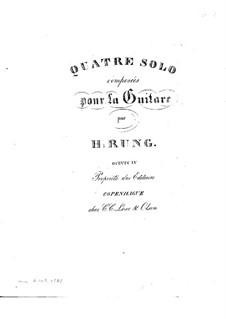 Four Solos for Guitar, Op.4: Four Solos for Guitar by Хенрик Рунг