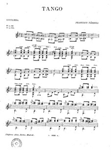 Танго: Для гитары by Франсиско Таррега