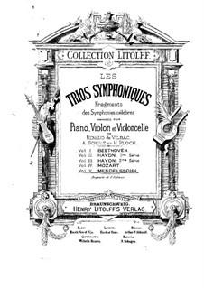 Симфония No.2 си-бемоль мажор 'Хвалебный гимн', Op.52: Adagio religioso and Allegretto, for piano trio by Феликс Мендельсон-Бартольди
