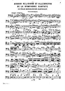 Симфония No.2 си-бемоль мажор 'Хвалебный гимн', Op.52: Adagio religioso and Allegretto, for piano trio – cello part by Феликс Мендельсон-Бартольди