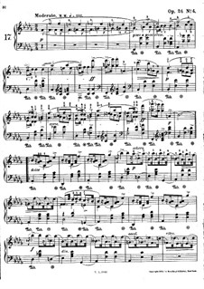 Мазурки, Op.24: No.4 си-бемоль минор by Фредерик Шопен