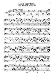 Песни без слов, Op.53: Сборник by Феликс Мендельсон-Бартольди
