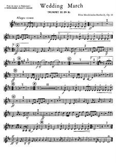 Свадебный марш: Партия третьей трубы in B by Феликс Мендельсон-Бартольди