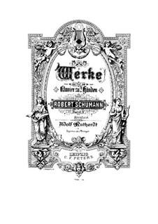 Четыре пьесы, Op.32: Для фортепиано by Роберт Шуман