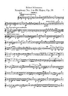 Симфония No.1 си-бемоль мажор 'Весенняя', Op.38: Партии валторн by Роберт Шуман