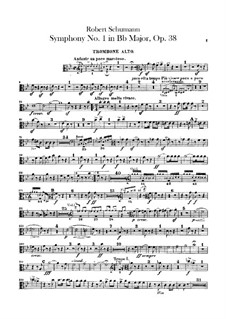 Симфония No.1 си-бемоль мажор 'Весенняя', Op.38: Партии тромбонов by Роберт Шуман