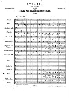 Музыка к пьесе 'Аталия', Op.74: Увертюра by Феликс Мендельсон-Бартольди