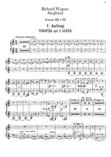 Зигфрид, WWV 86c: Партии третьей и четвёртой валторн by Рихард Вагнер