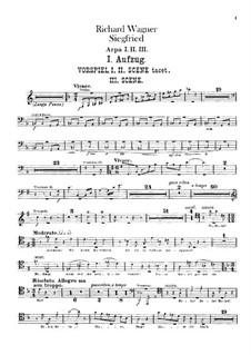 Зигфрид, WWV 86c: Партии арф by Рихард Вагнер