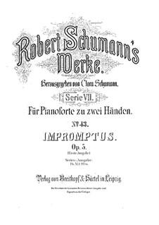Экспромты на тему Клары Вик, Op.5: Для фортепиано by Роберт Шуман