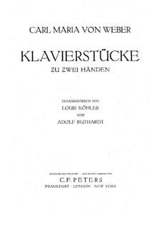 Вариации на тему русской народной песни 'Красивая Минка', J.179 Op.40: Для фортепиано by Карл Мария фон Вебер