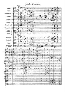 Юбилейная увертюра, J.245 Op.59: Партитура by Карл Мария фон Вебер