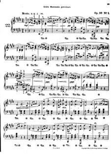 Мазурки, Op.33: No.1-2 by Фредерик Шопен