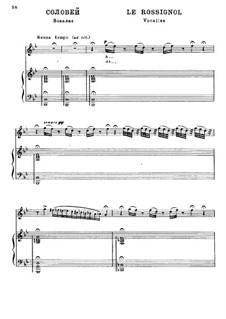 Соловей: Клавир с вокальной партией by Камиль Сен-Санс