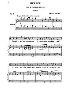 Менуэт для голоса и фортепиано: Менуэт для голоса и фортепиано by Камиль Сен-Санс