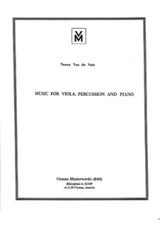 Music for Viola, Percussion and Piano: Партитура by Nancy Van de Vate
