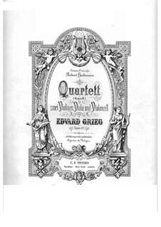 Струнный квартет соль минор, Op.27: Скрипка I by Эдвард Григ