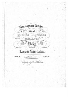 Шесть больших каприсов для скрипки, Op.42: Шесть больших каприсов для скрипки by Леон де Сен-Любен