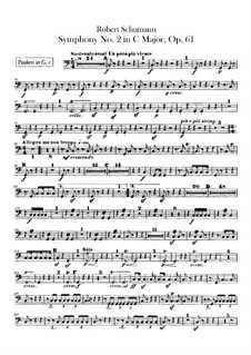 Симфония No.2 до мажор, Op.61: Партия литавр by Роберт Шуман