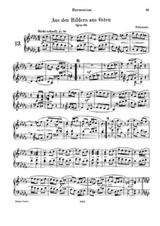 Восточные картины, Op.66: No.4, для фисгармонии и фортепиано – партия фисгармонии by Роберт Шуман