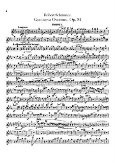 Геновева, Op.81: Увертюра – партии гобоев by Роберт Шуман