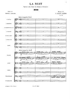 Ночь, Op.114: Партитура by Камиль Сен-Санс