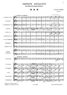 Андалузский каприс, Op.122: Партитура by Камиль Сен-Санс