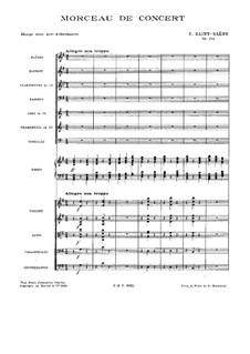 Концертная пьеса для арфы с оркестром, Op.154: Партитура by Камиль Сен-Санс