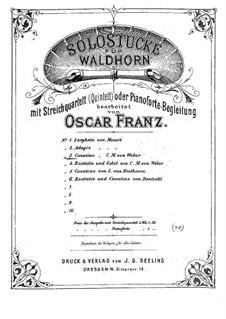Акт III, No.12 Каватина: Для валторны и фортепиано by Карл Мария фон Вебер